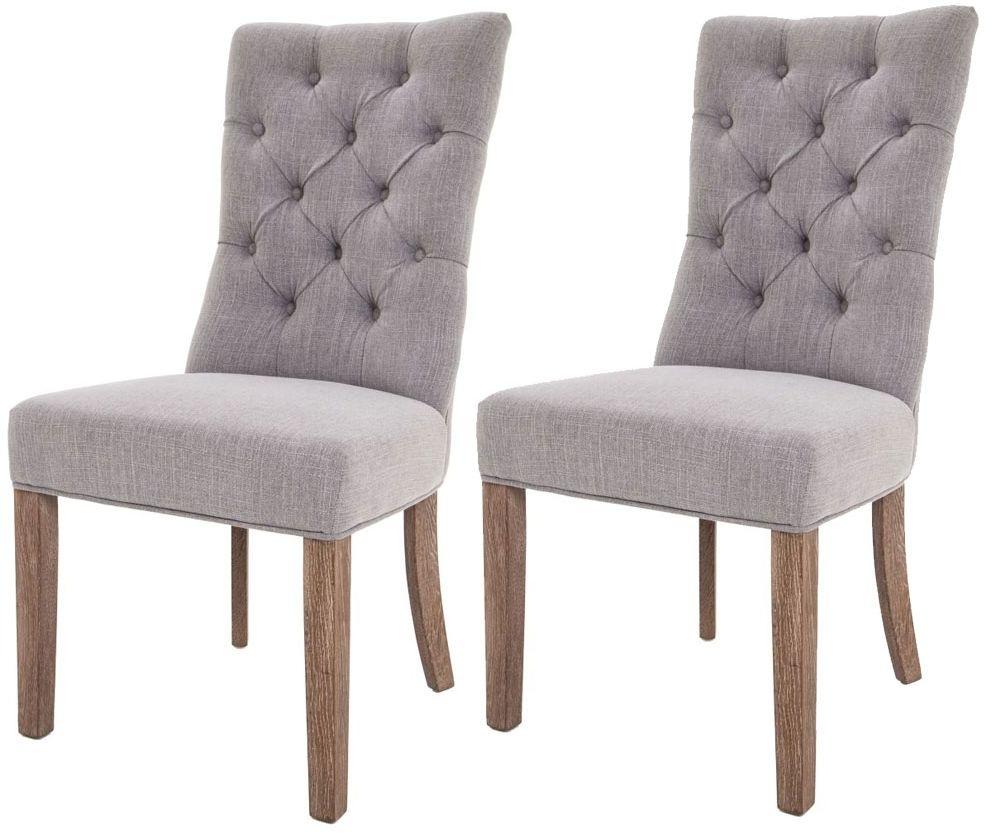 Best And Newest Grey Dining Chairs Pertaining To Buy Rv Astley Grey Linen Dining Chair (Pair) Online – Cfs Uk (#1 of 20)