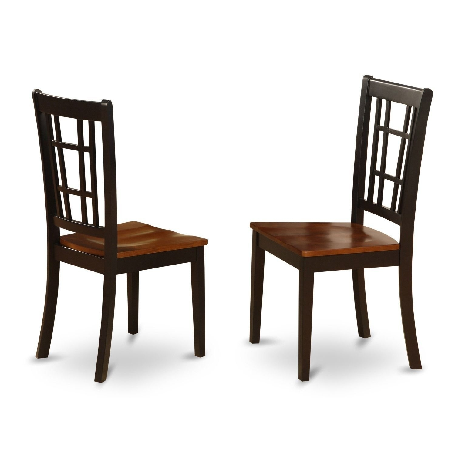 Best And Newest Nicoli Black/ Cherry Kitchen Chair (Set Of 2) (Wood Seat Intended For Hayden Ii Black Side Chairs (#2 of 20)