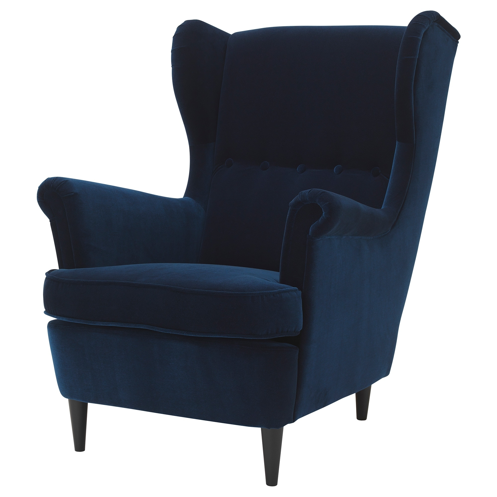 Best And Newest Strandmon Wing Chair – Djuparp Dark Green Blue – Ikea For Pilo Blue Side Chairs (View 4 of 20)