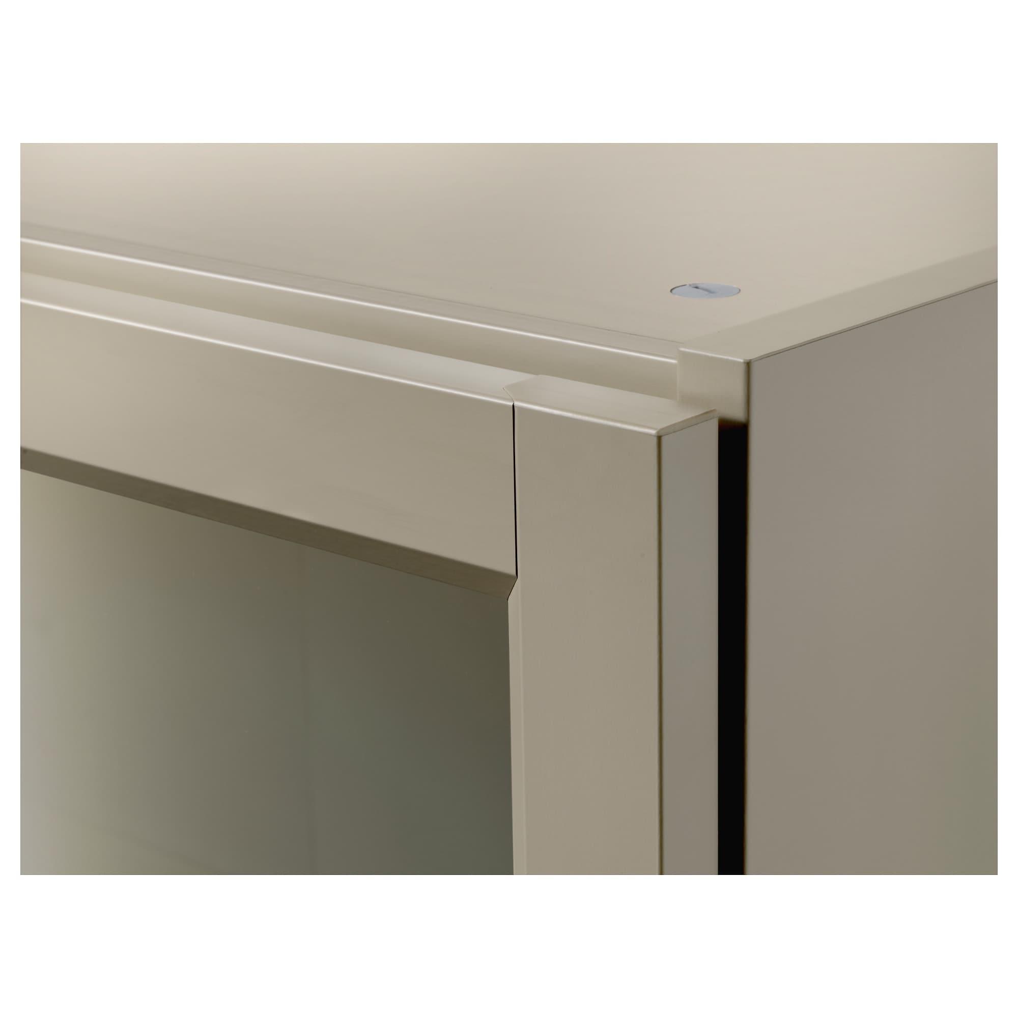 Billy Bookcase With Glass Doors – Dark Blue – Ikea Inside 2018 Cass 2 Door Sideboards (View 15 of 20)