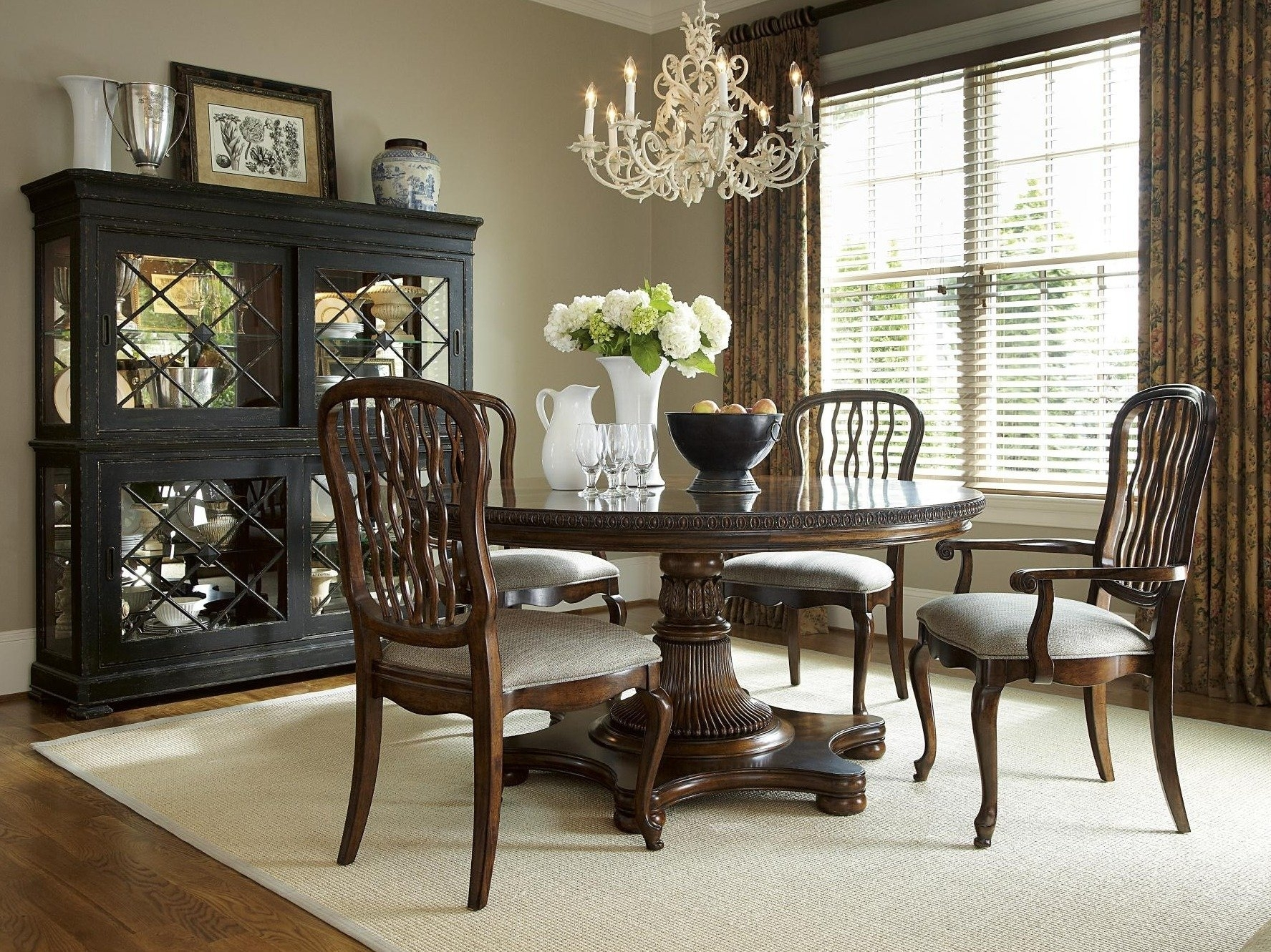 Biltmore Side Chairs Within Most Up To Date The Biltmore Round Table Dining Room Collection – (#5 of 20)