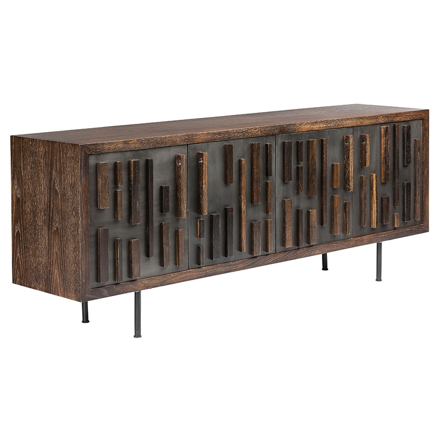 Blok Washed Black Oak Sideboard | Eurway Furniture With Regard To Most Current Black Oak Wood And Wrought Iron Sideboards (#6 of 20)