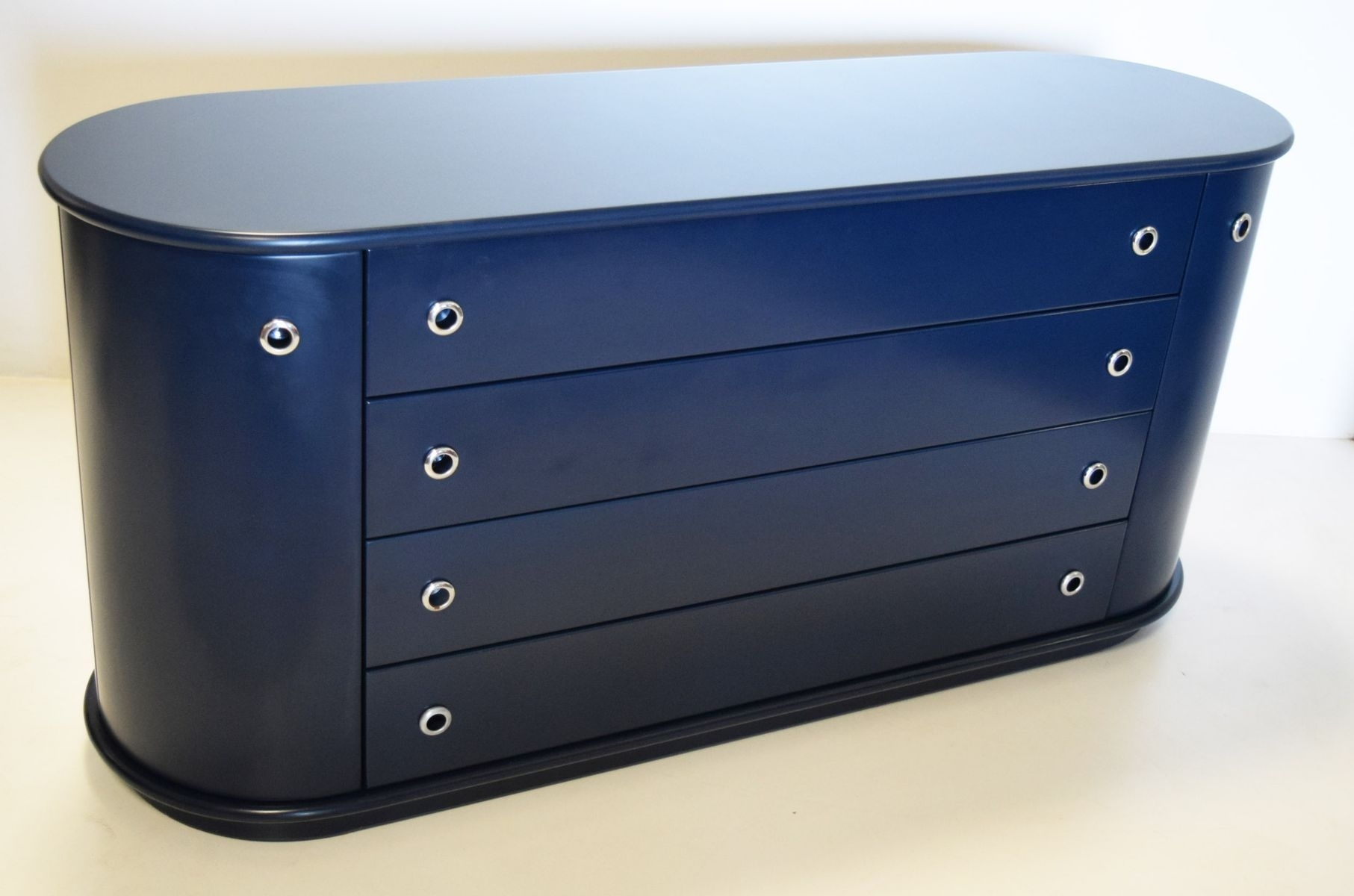 Blue Lacquered Sideboardluigi Vaghi For Cattadori Actualform In Most Recent Rossi Large Sideboards (#2 of 20)
