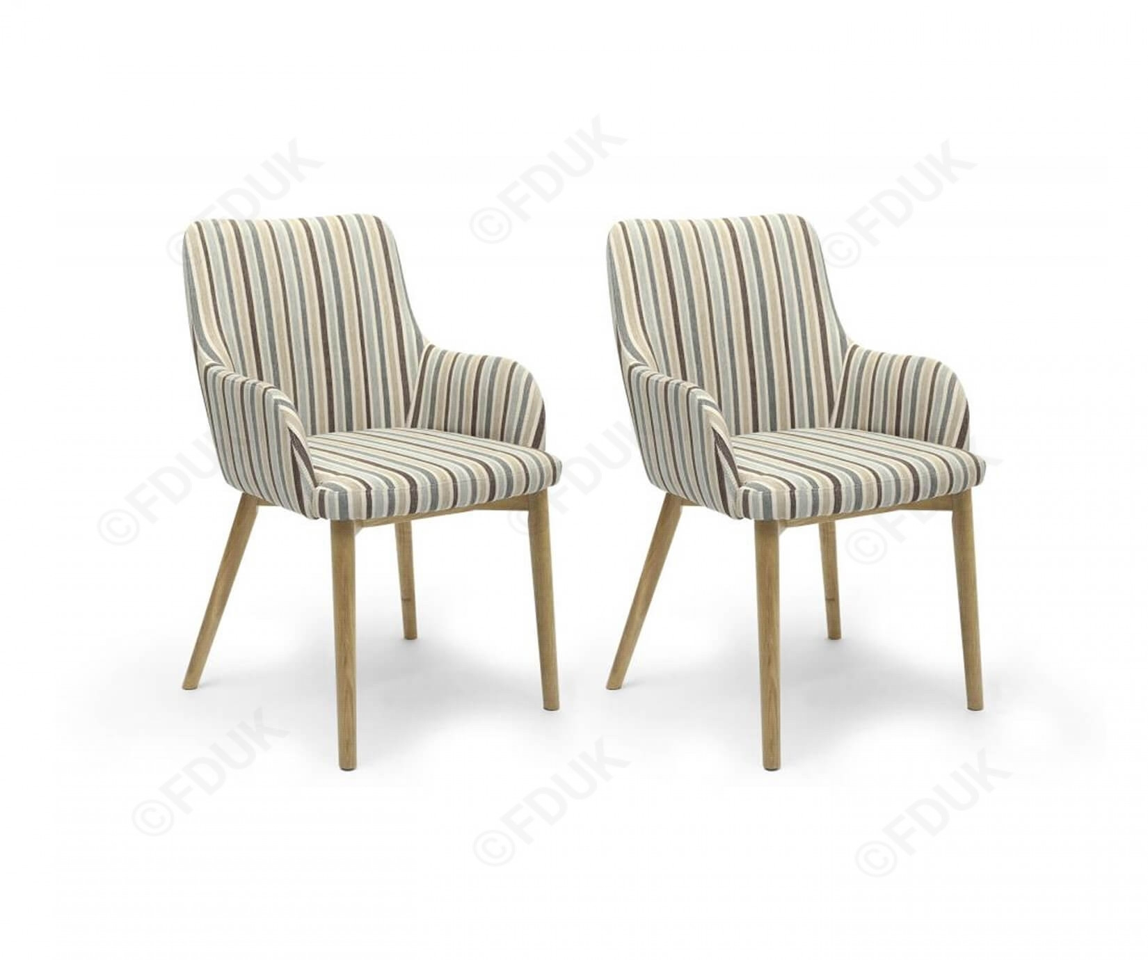 Blue Stripe Dining Chairs Intended For Trendy Shankar Sidcup (#5 of 20)