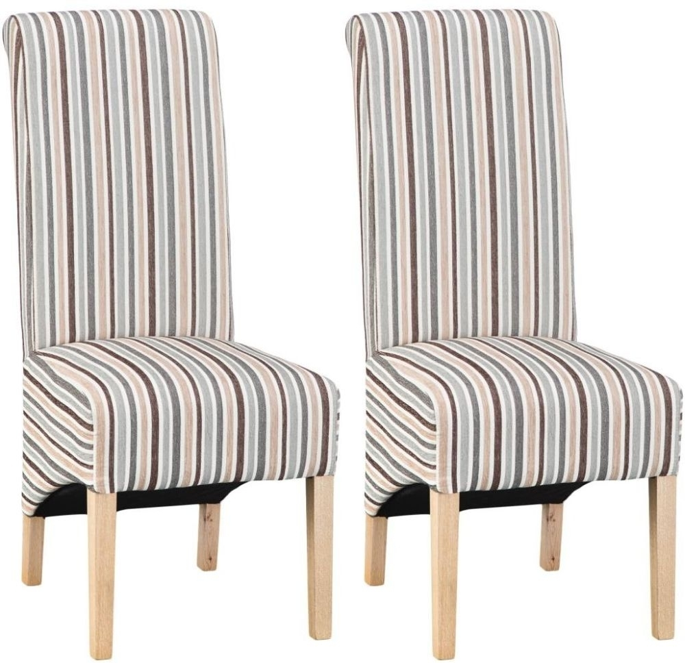 Blue Stripe Dining Chairs Throughout Newest Buy Design 05 – Duck Egg Blue Stripe Dining Chair (Pair) Online – Cfs Uk (#6 of 20)