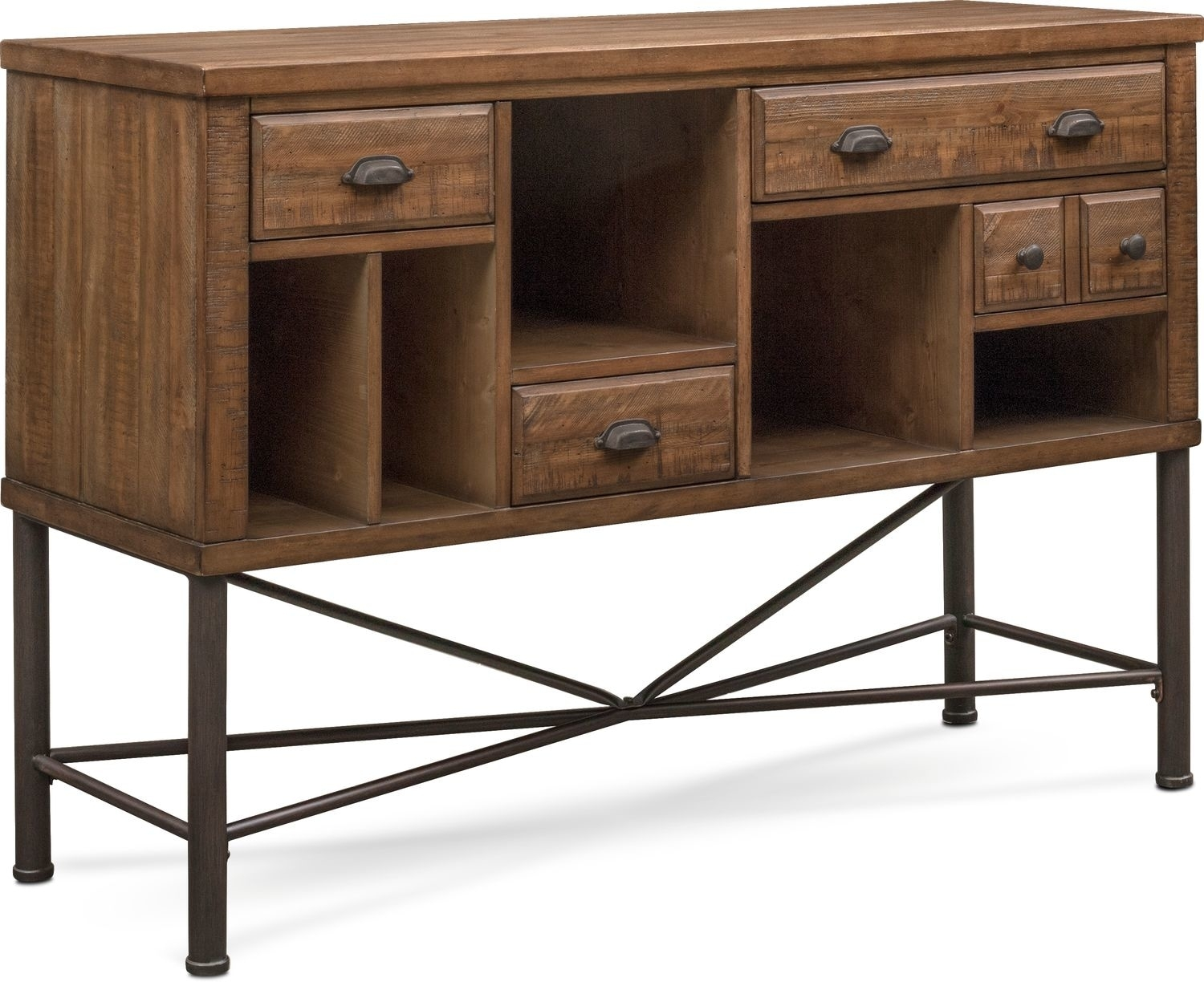 Bodhi Sideboard – Rustic Pine | American Signature Furniture With Most Popular Iron Pine Sideboards (#4 of 20)
