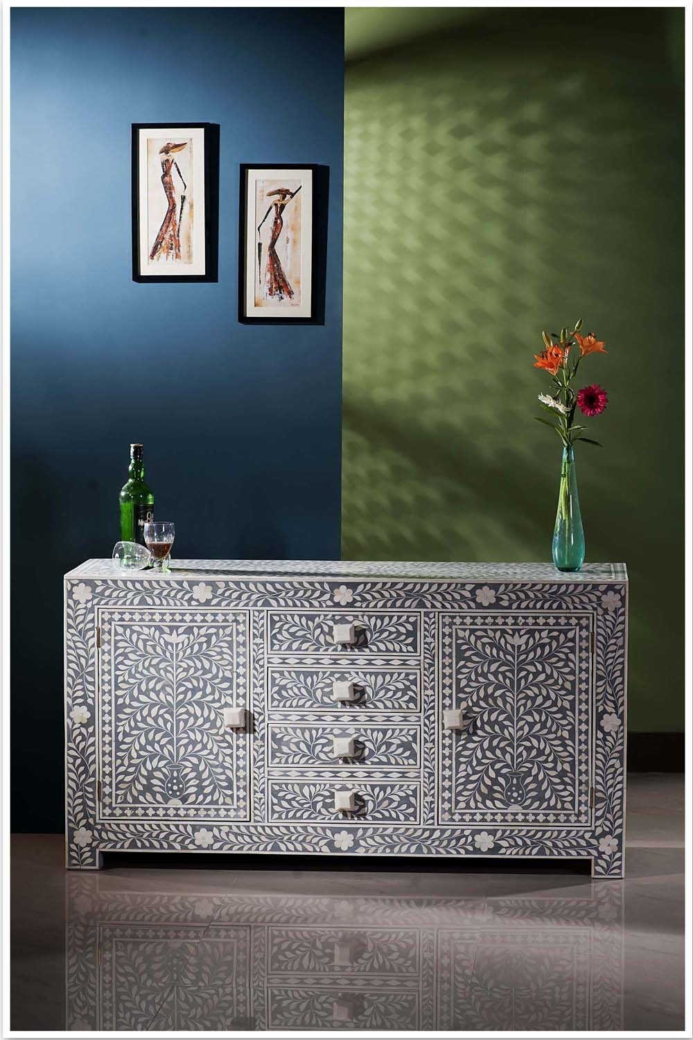 Bone Inlay Furniture Stores In Melbourne, Sydney, Australia, Brisbane In Best And Newest Geo Pattern Black And White Bone Inlay Sideboards (#7 of 20)