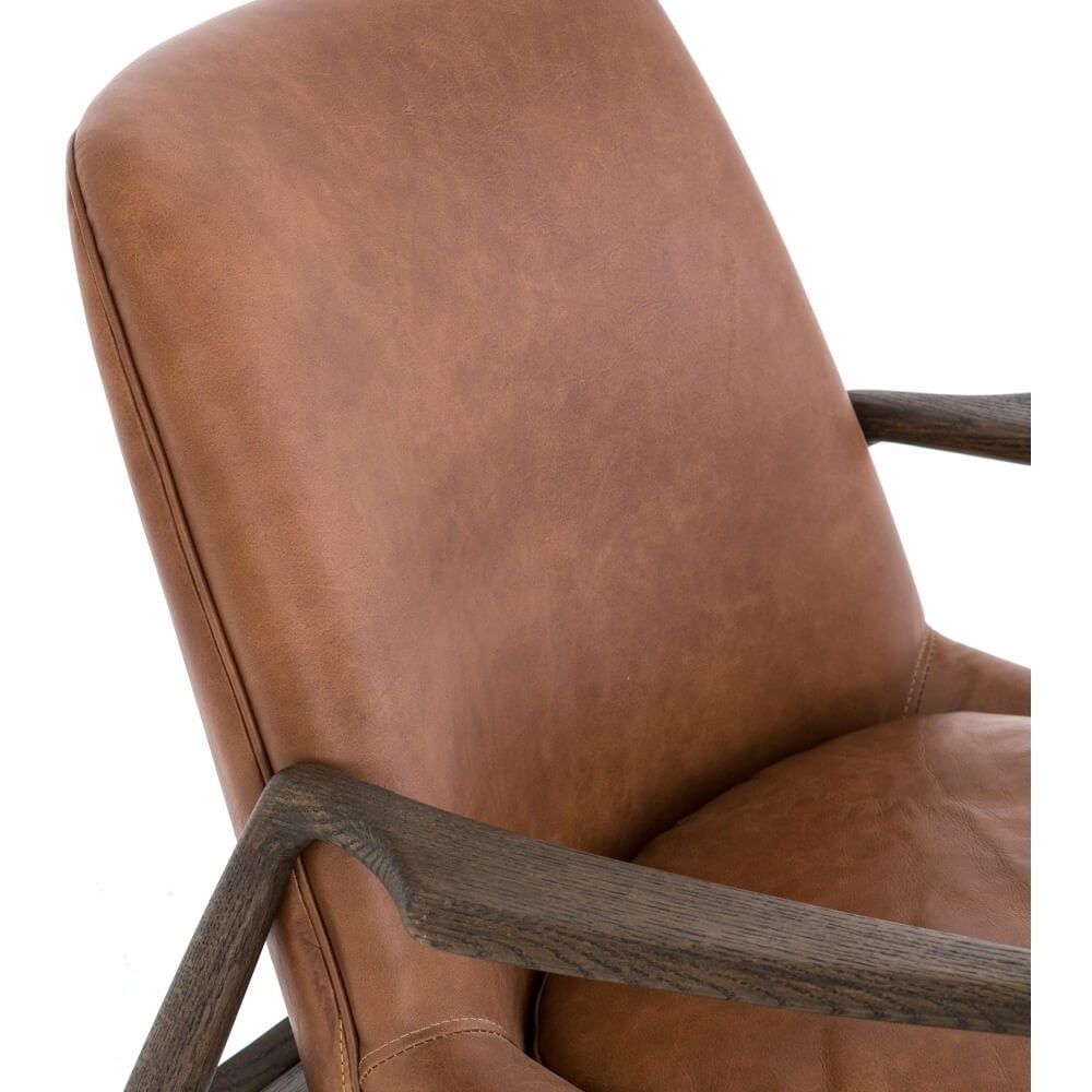 Braden Leather Chair, Brandy – Leather – Chairs – Furniture Regarding Latest Durango Smoke & Warm Cedar Dining Chairs (#2 of 20)