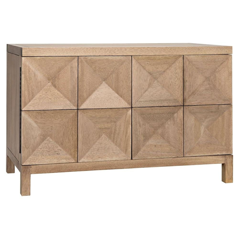 Brenton Modern Classic Washed Walnut Diamond 2 Door Sideboard Intended For Latest Jaxon Sideboards (View 14 of 20)