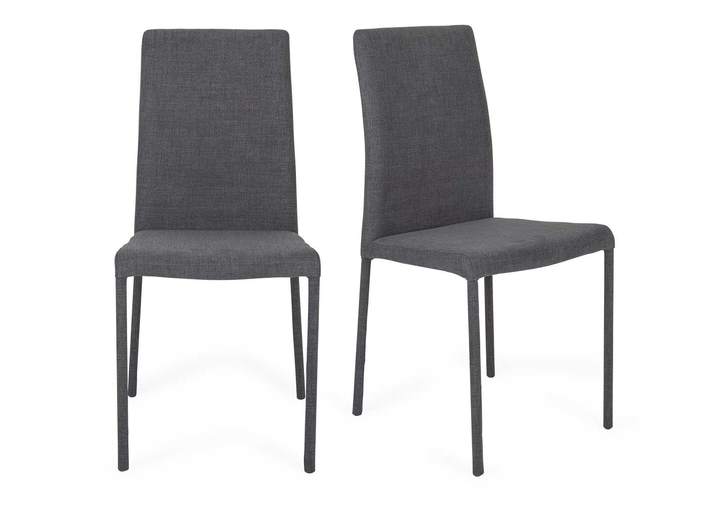Bronte Pair Of Dining Chairs Pertaining To Latest Moda Grey Side Chairs (#5 of 20)