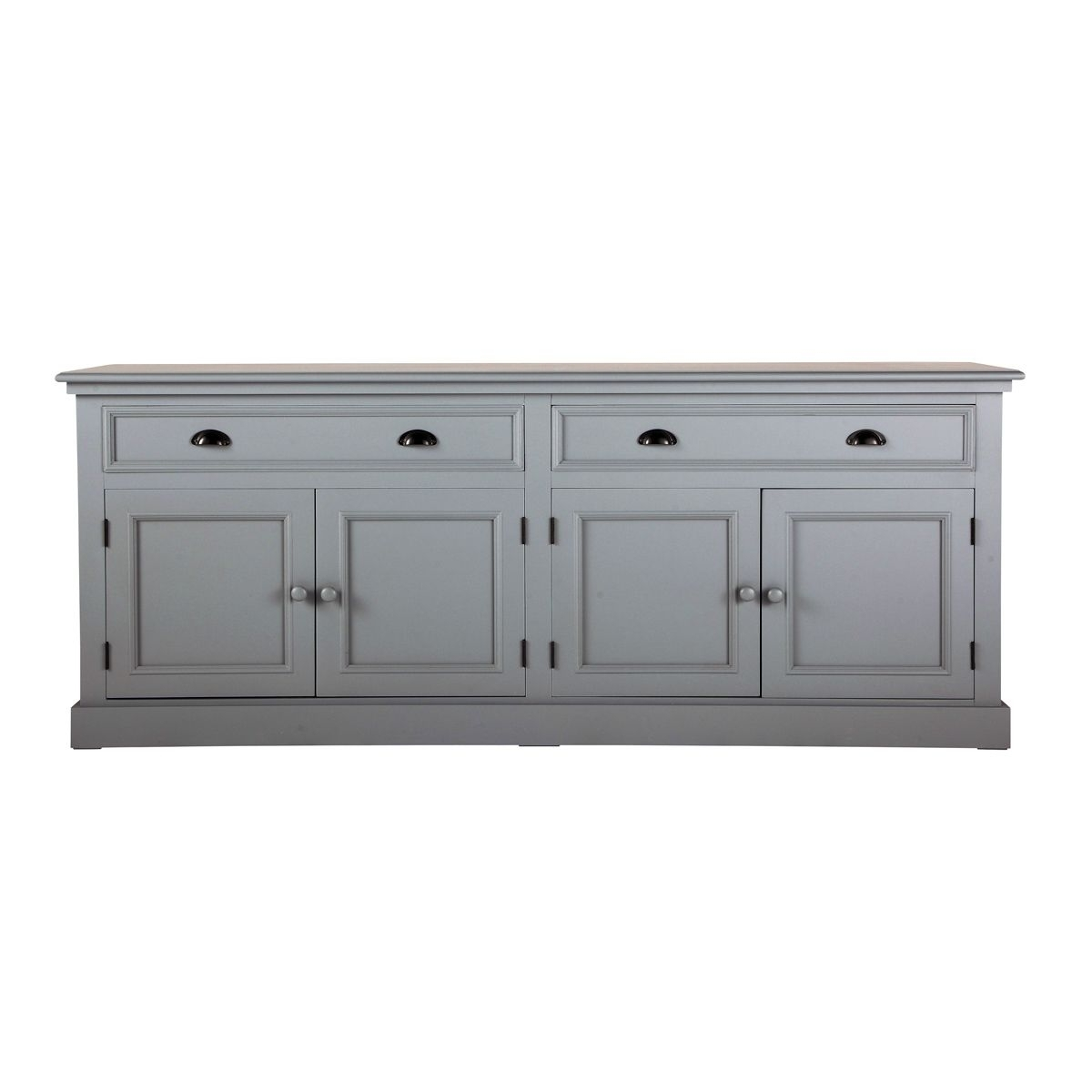 Buffet En Bois Gris L 200 Cm Newport | Furnitur | Pinterest With Regard To Most Recently Released Hartigan 2 Door Sideboards (View 2 of 20)