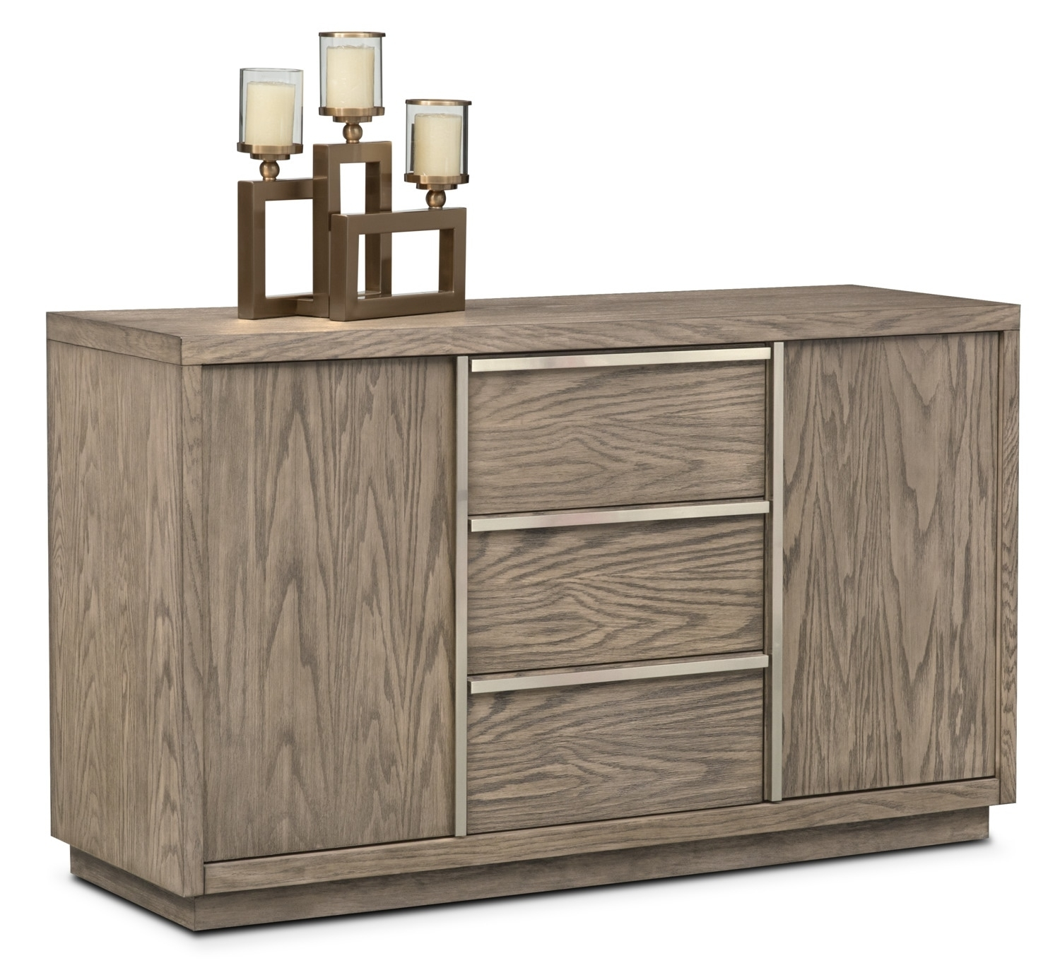Buffet & Sideboard Cabinets | Value City Furniture And Mattresses With Regard To 2017 Brown Wood 72 Inch Sideboards (#3 of 20)