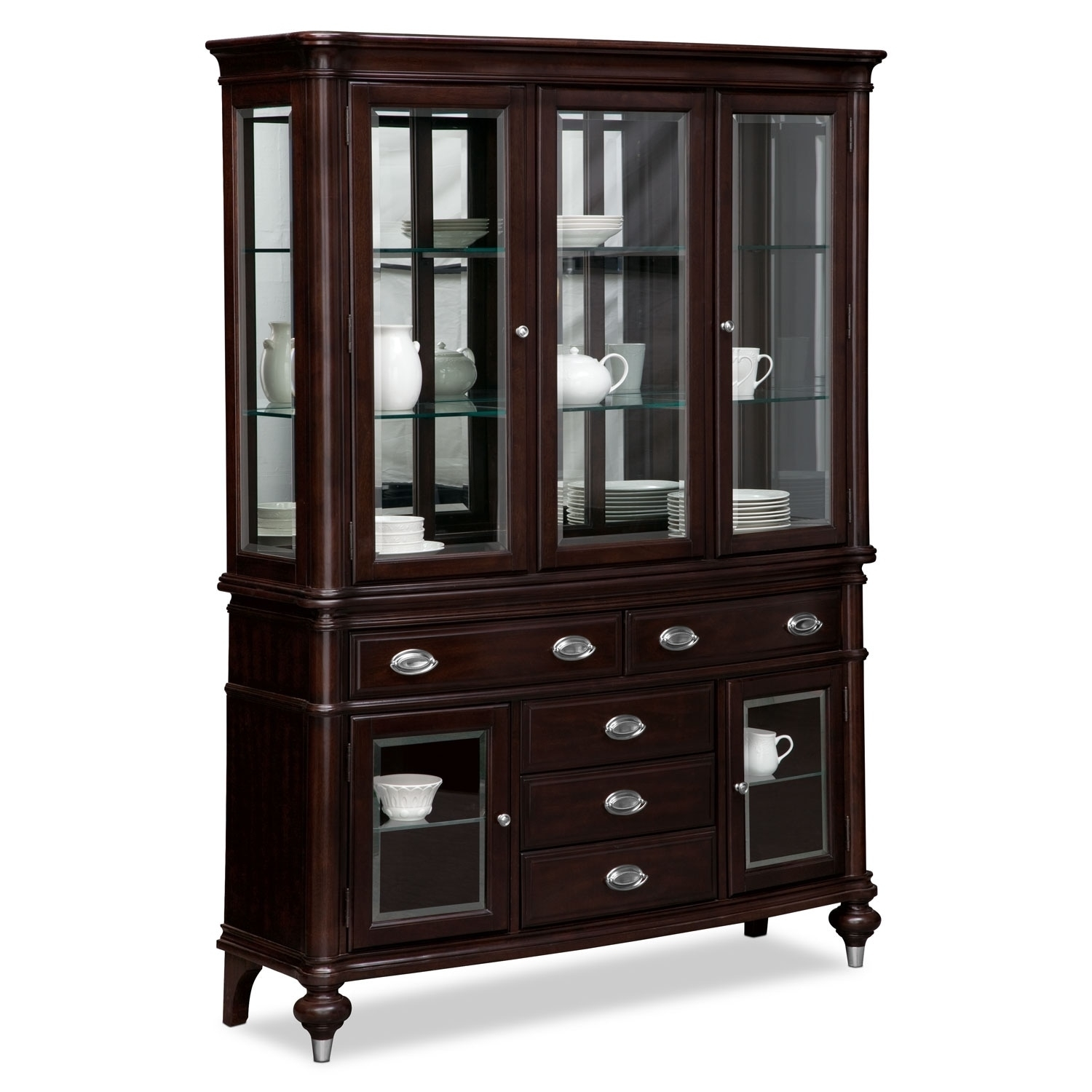Buffet & Sideboard Cabinets | Value City Furniture And Mattresses With Regard To 2018 Brown Wood 72 Inch Sideboards (#4 of 20)