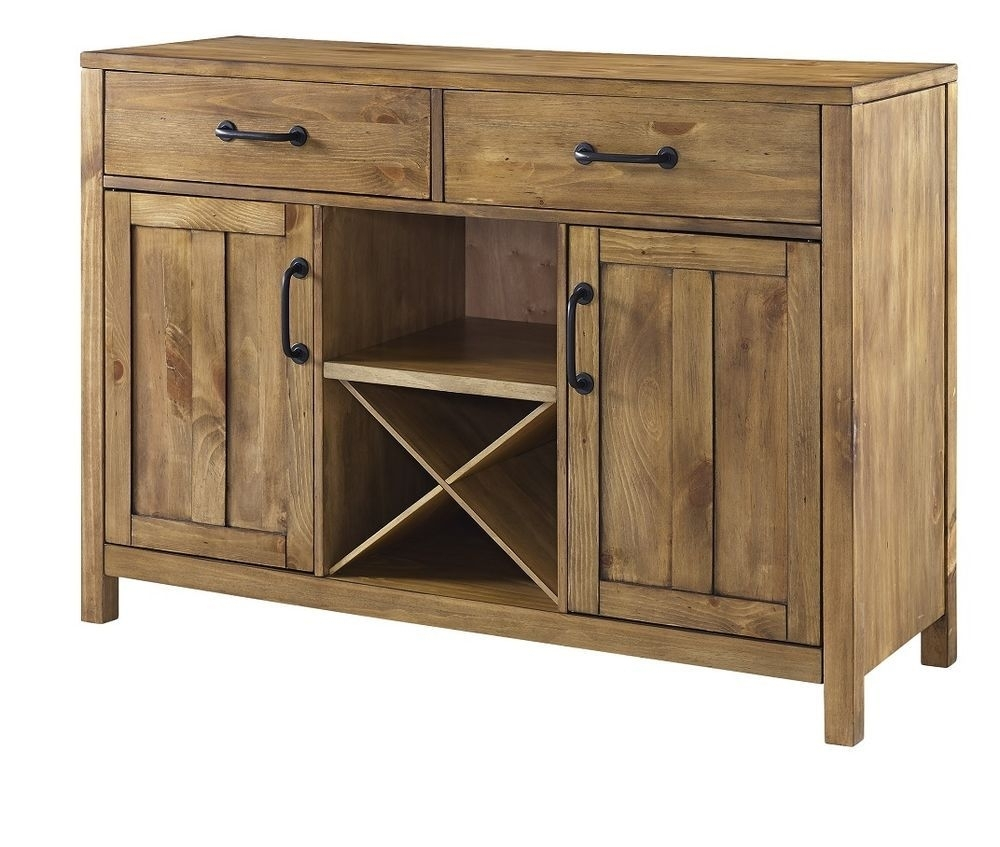 Buffet Table With Wine Rack Dining Room Storage Sideboard Cabinet Within Most Current Brown Wood 72 Inch Sideboards (#5 of 20)
