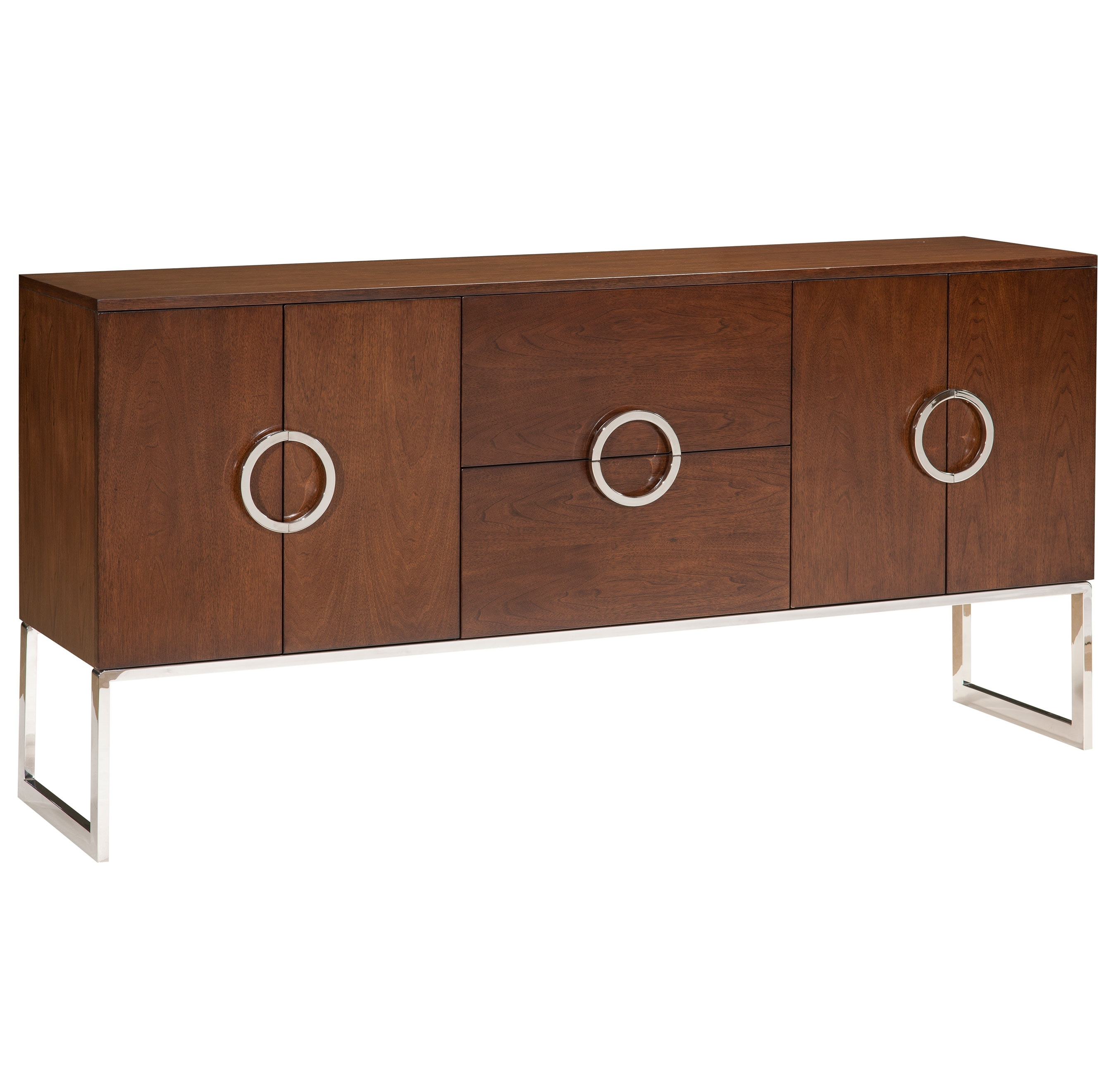 Buffets & Sideboards | Kathy Kuo Home Pertaining To Recent Antique Walnut Finish 2 Door/4 Drawer Sideboards (#4 of 20)