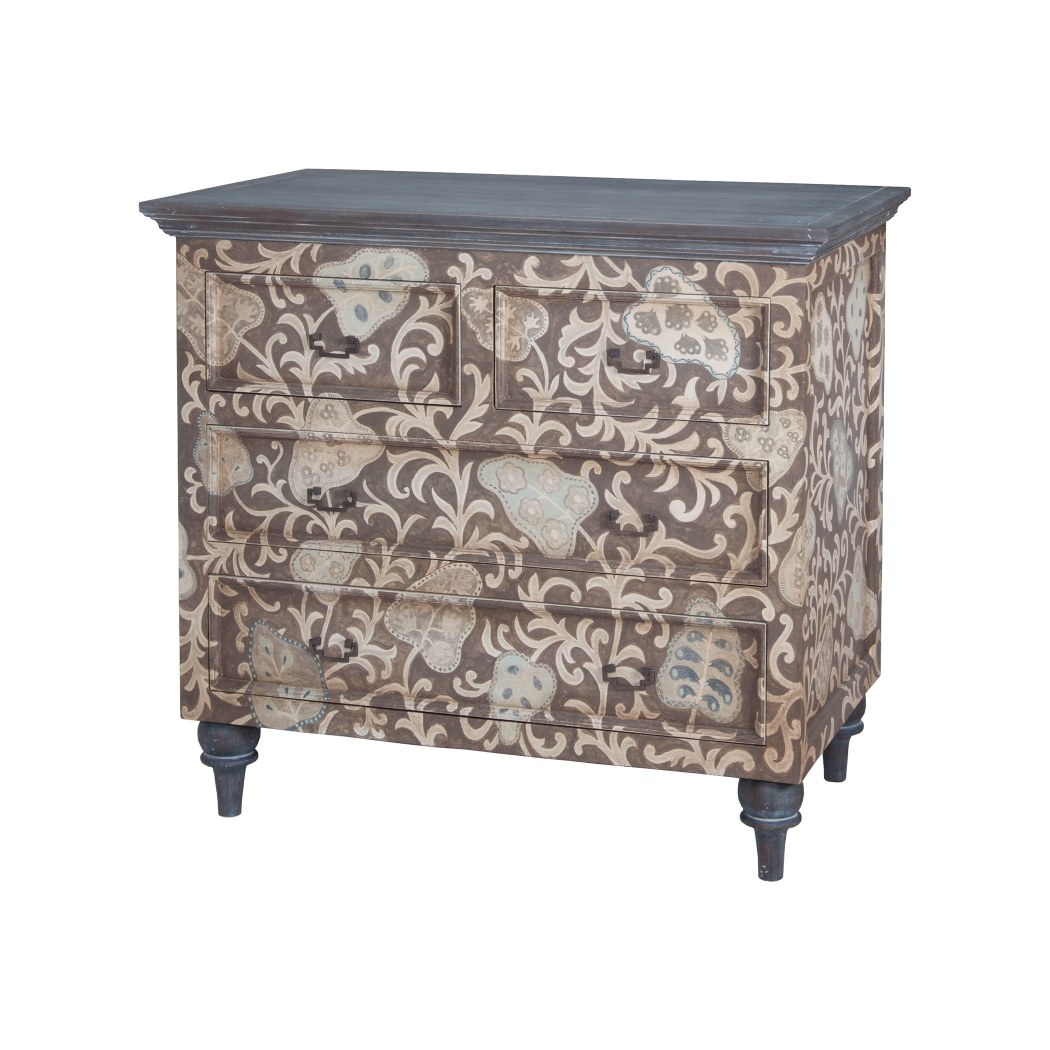 Bungalow Rose Giancarlo 4 Drawer Accent Chest | Wayfair Pertaining To Current Moraga Live Edge 8 Door Sideboards (View 7 of 20)