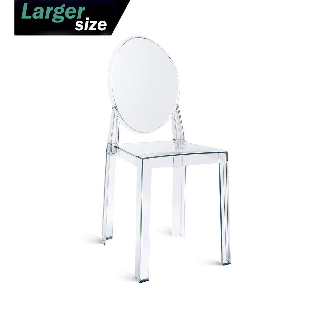 Burton Metal Side Chairs With Wooden Seat Throughout Popular Shop 2Xhome – Large – Clear Plastic Armless Side Chair Acrylic (#5 of 20)