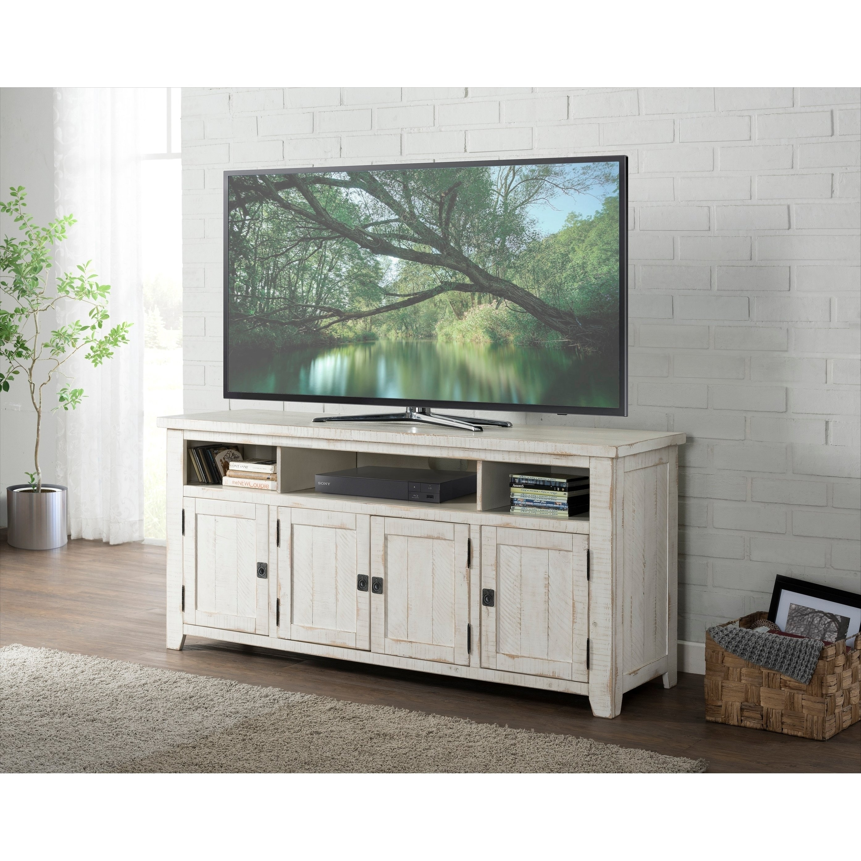 Buy 42 – 60 Inches, Rustic, Tv Stands Online At Overstock   Our Inside Best And Newest Mid Burnt Oak 71 Inch Sideboards (View 13 of 20)