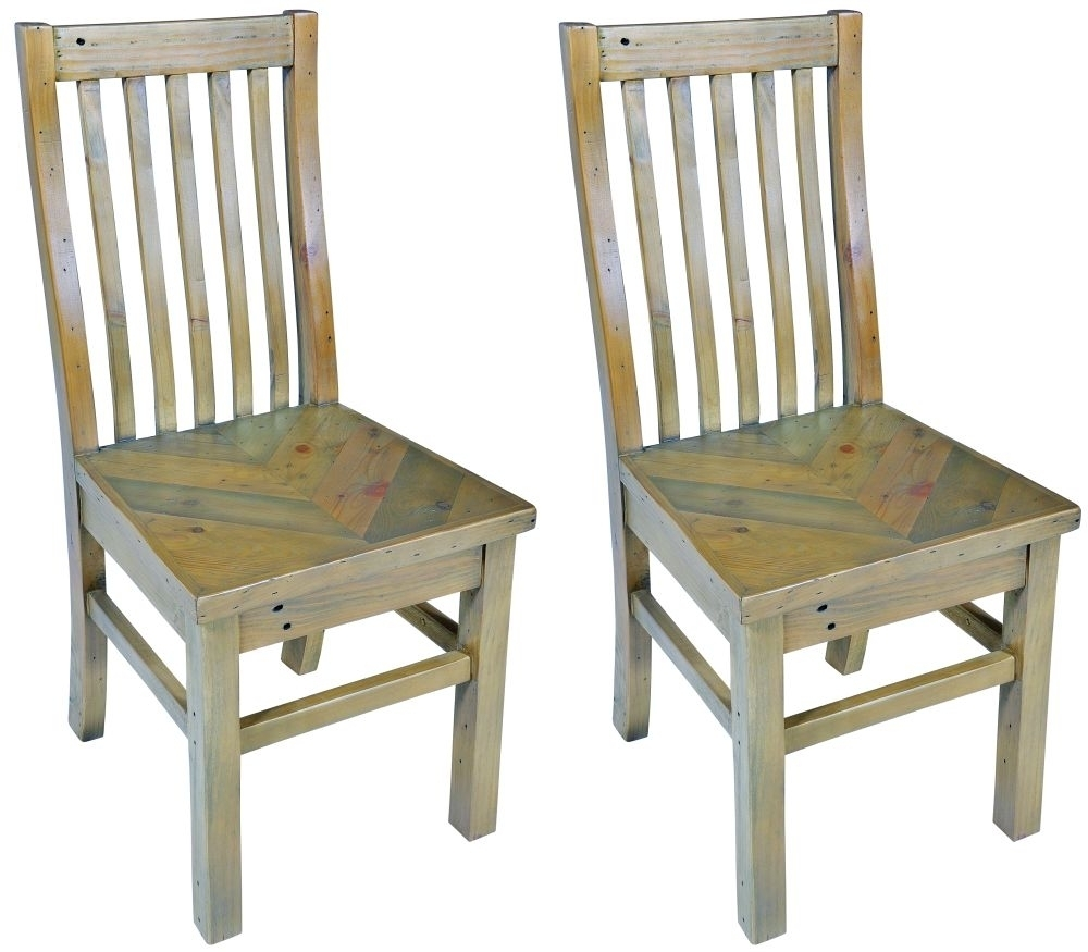 Buy Bruton Parquet Reclaimed Wood Dining Chair (Pair) Online – Cfs Uk Throughout Favorite Parquet Dining Chairs (#2 of 20)