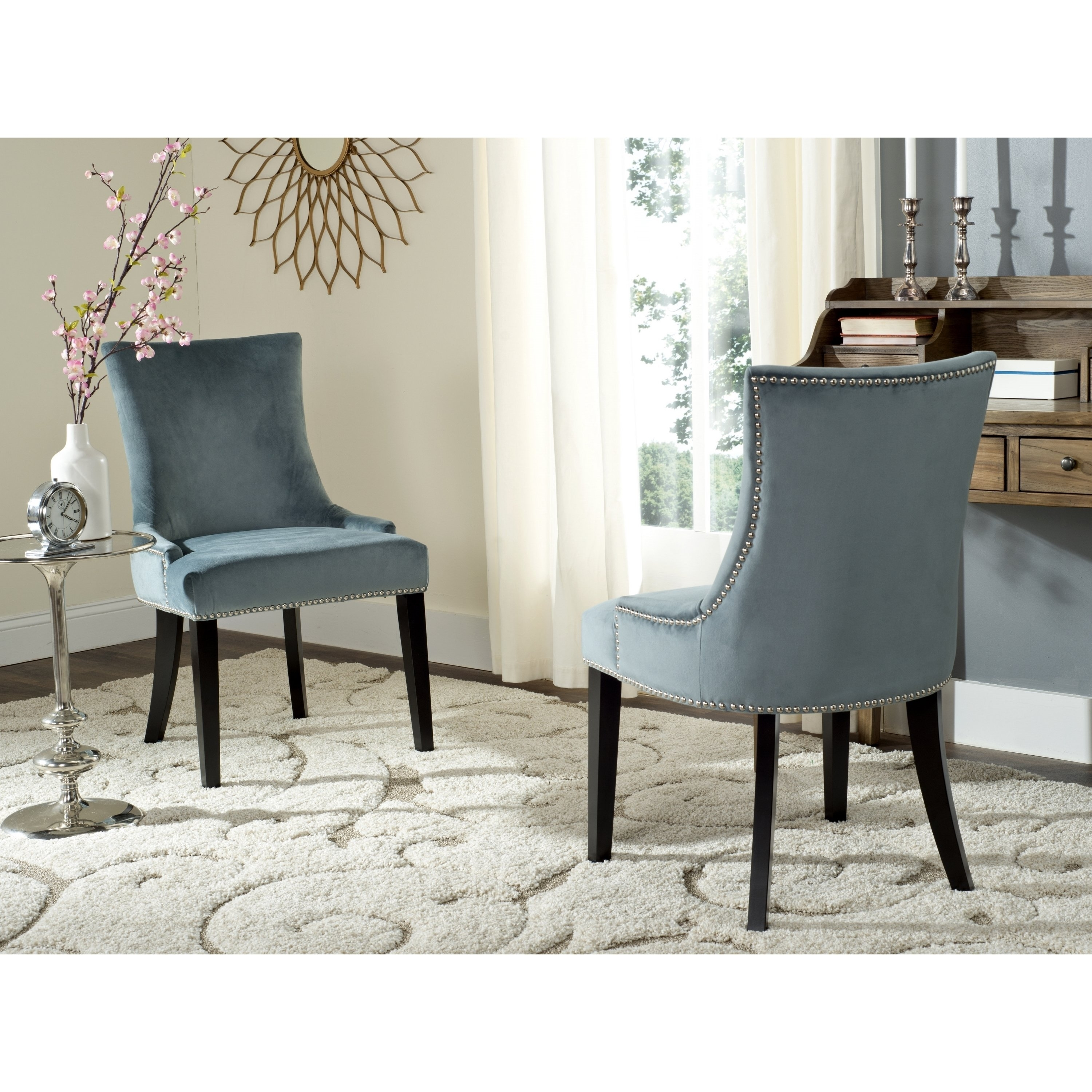 Buy Espresso Finish, Fabric Kitchen & Dining Room Chairs Online At Intended For Well Liked Garten Linen Skirted Side Chairs Set Of  (View 2 of 20)