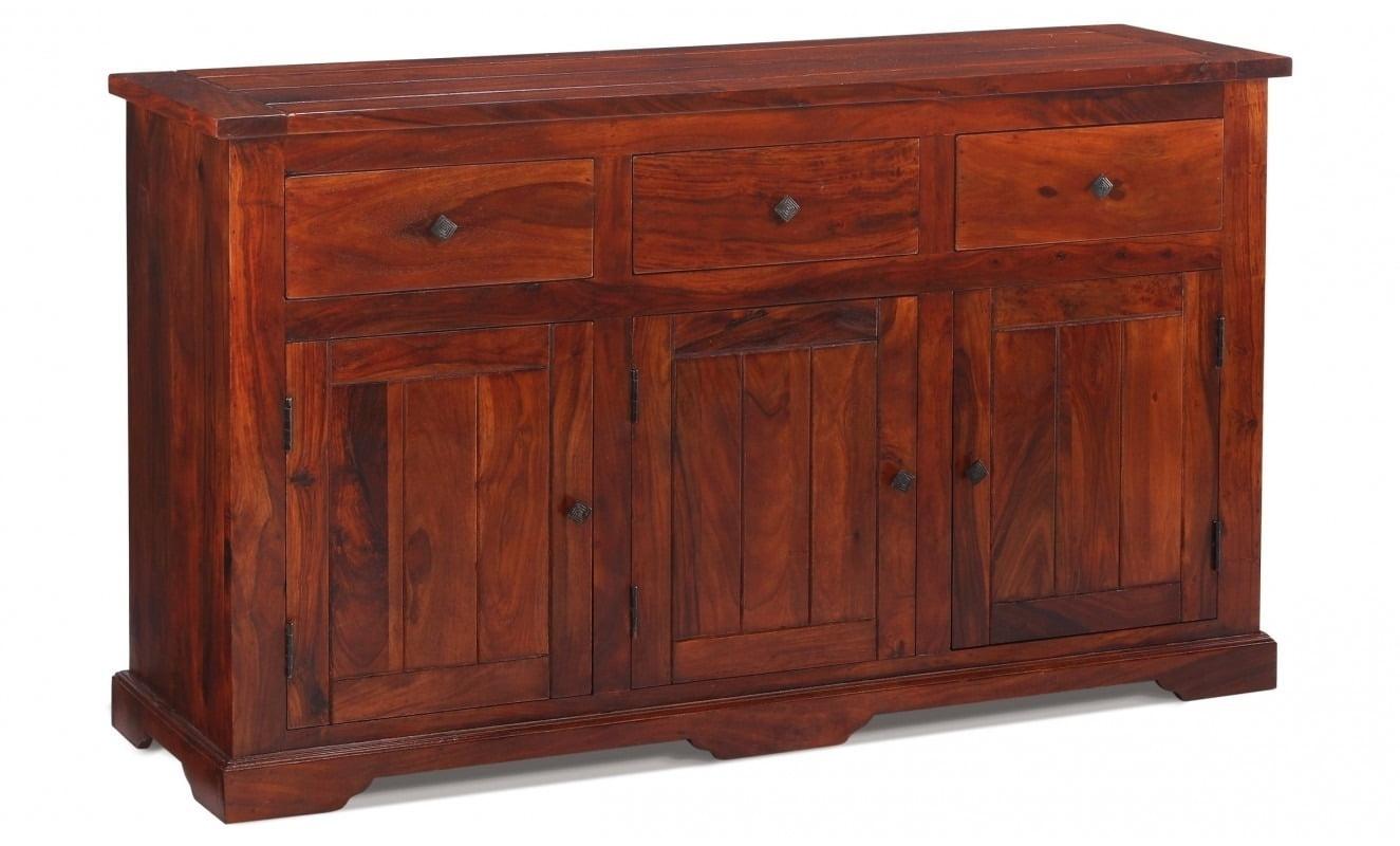 Buy Mridyam Sideboard Online   Sheesham Wood – Furnspace In Most Popular Brown Wood 72 Inch Sideboards (#7 of 20)