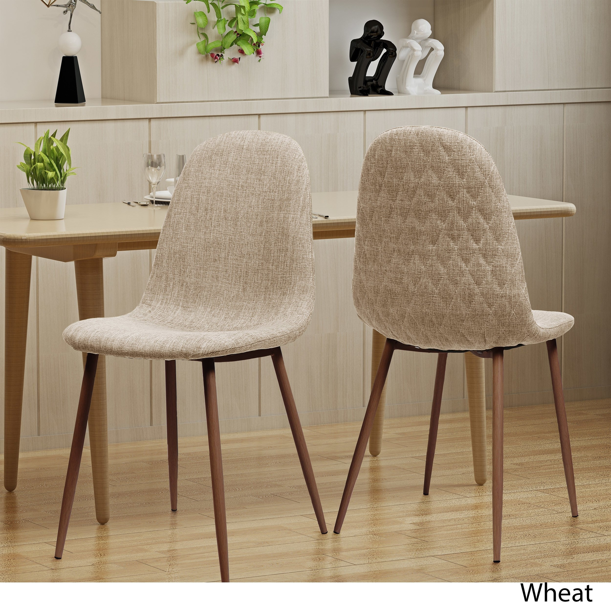 Caden Side Chairs Inside Preferred Shop Caden Mid Century Fabric Dining Chair (Set Of 2)Christopher (#4 of 20)