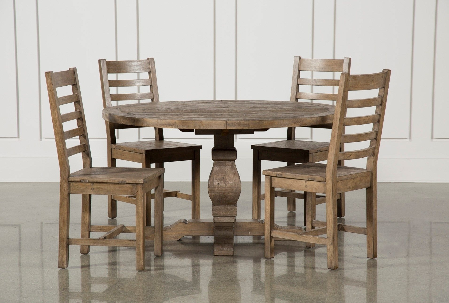 Caden Side Chairs Pertaining To Preferred Caden 5 Piece Round Dining Set, Natural (#5 of 20)