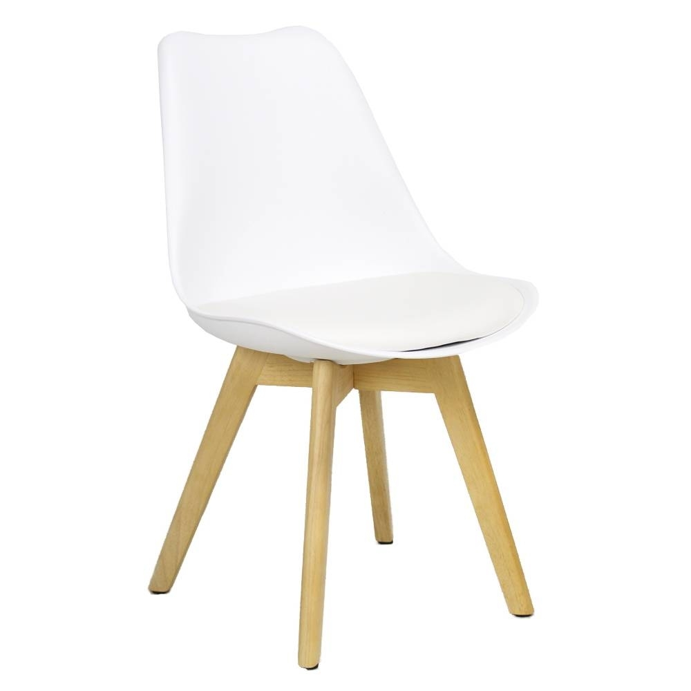 Caden Side Chairs With Regard To Famous Caden Plastic Dining Chair White – Shipped Within 24 Hours! – Furnwise (#6 of 20)