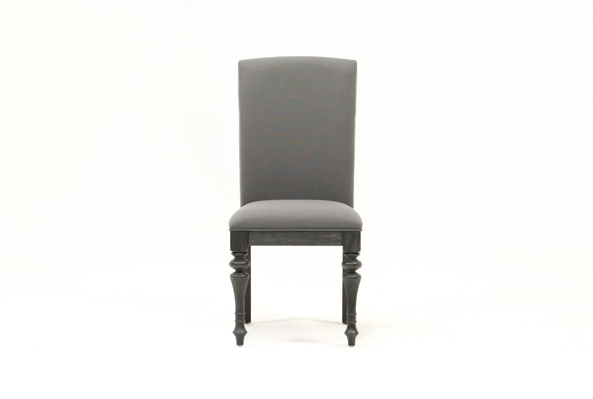Caira Black Upholstered Side Chair (#2 of 20)