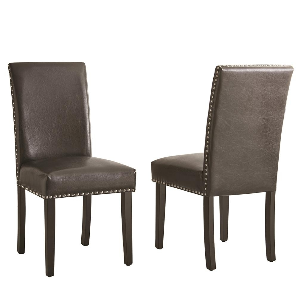 Caira Black Upholstered Side Chairs In Well Known Steve Silver Verano Black Side Chair (Set Of 2) Vr450Sk – The Home Depot (#3 of 20)