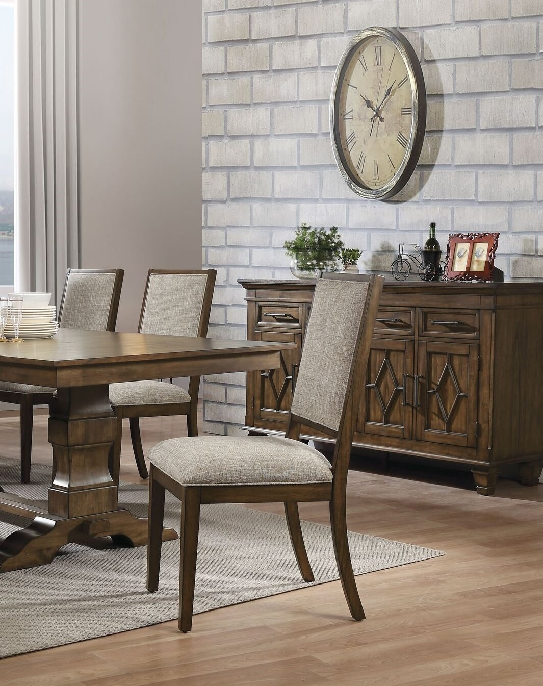 Caira Upholstered Diamond Back Side Chairs With Regard To Most Recently Released Gracie Oaks Calhoon Upholstered Dining Chair (#7 of 20)