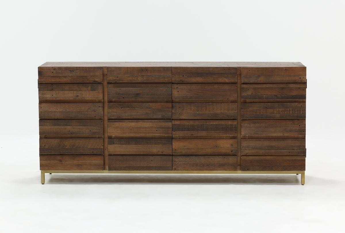 Calhoun Sideboard | Living Spaces Pertaining To Most Recent Gunmetal Perforated Brass Sideboards (#12 of 20)