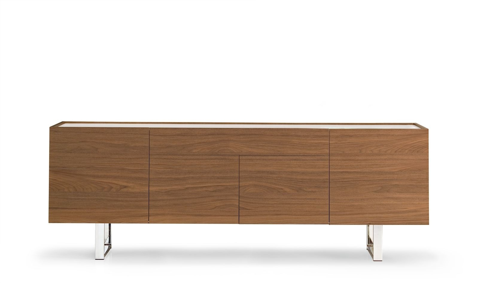 Calligaris Horizon 4 Door With Central Drawer Sideboard – Frank Mc Gowan Throughout Best And Newest Walnut Finish 4 Door Sideboards (View 8 of 20)