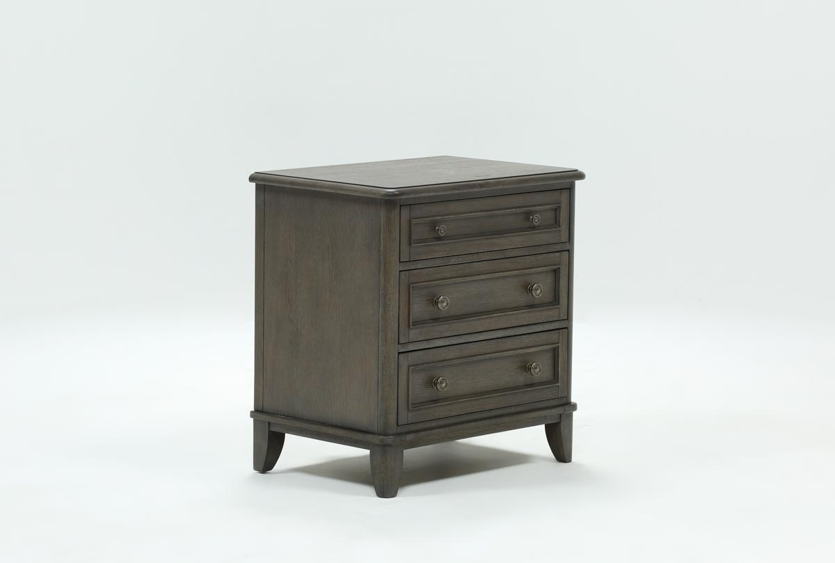 Candice Ii 3 Drawer Nightstand | Living Spaces Within Most Popular Candice Ii Sideboards (View 4 of 20)