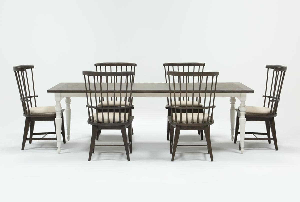 Candice Ii 7 Piece Extension Rectangular Dining Set With Slat Back Within Favorite Candice Ii Slat Back Side Chairs (#5 of 20)