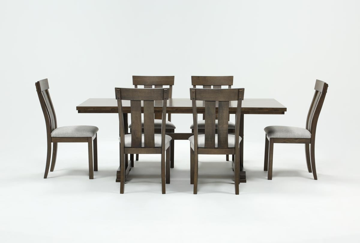 Candice Ii Slat Back Host Chairs Regarding Latest Delfina 7 Piece Dining Set (#3 of 20)