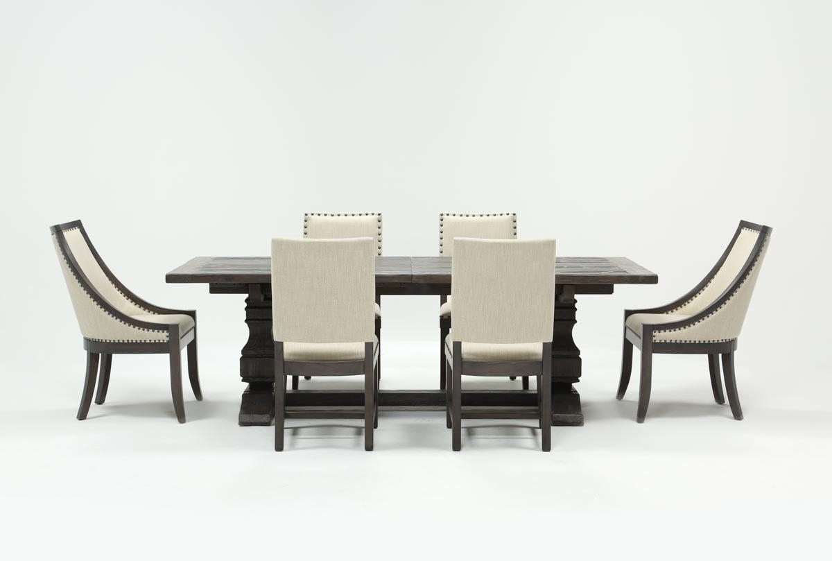 Candice Ii Slat Back Host Chairs Within Well Known Norwood 7 Piece Rectangle Extension Dining Set (#6 of 20)
