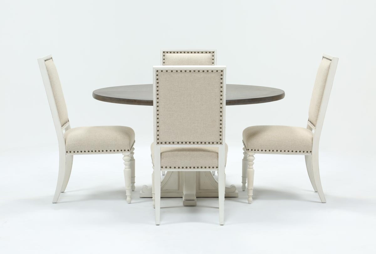 Candice Ii Slat Back Side Chairs Throughout Recent Candice Ii 5 Piece Round Dining Set (#6 of 20)