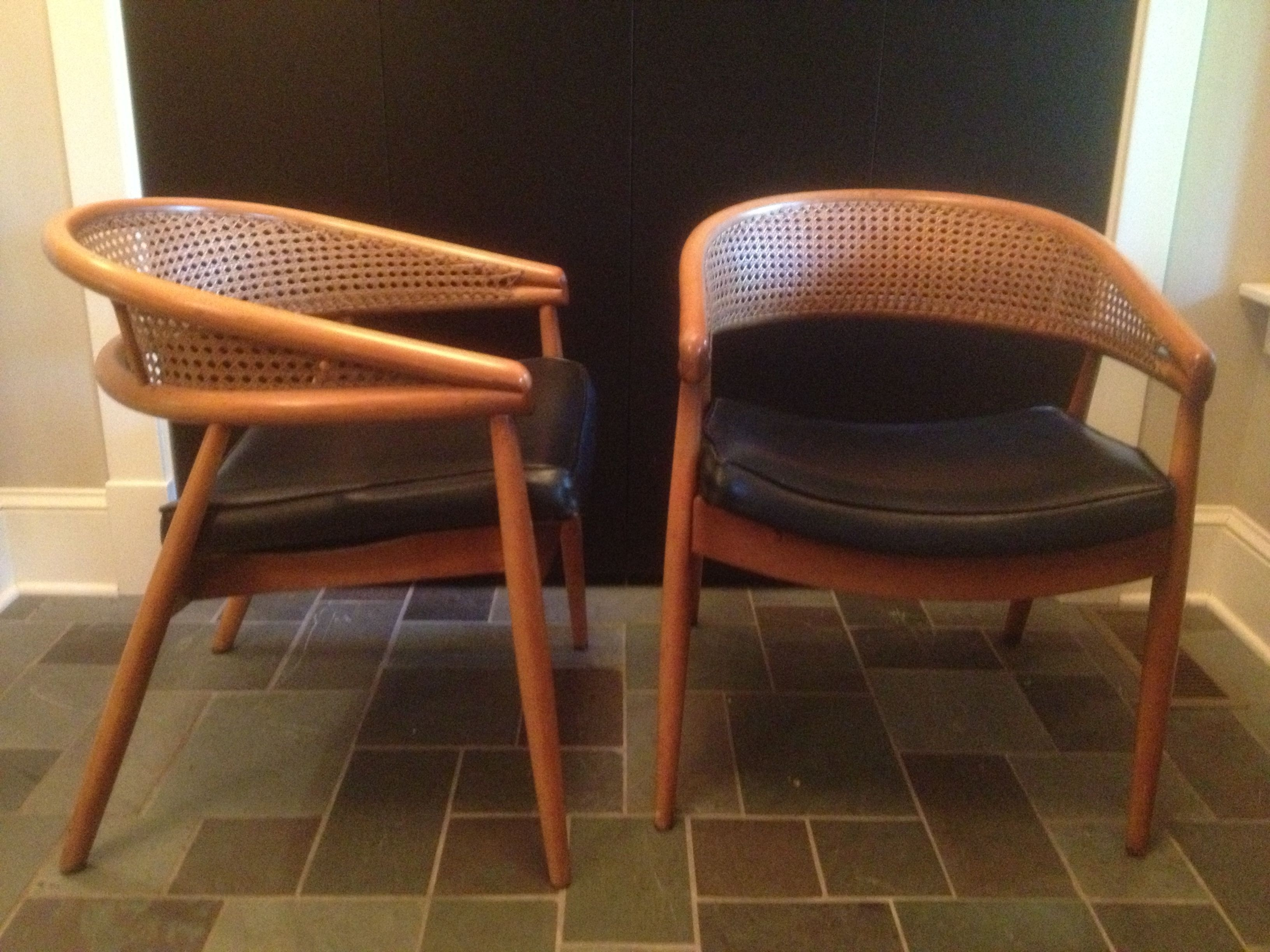 Carmel Oak Side Chairs In Fashionable Pair Of Bentwood And Woven Cane Side Chairs (#1 of 20)
