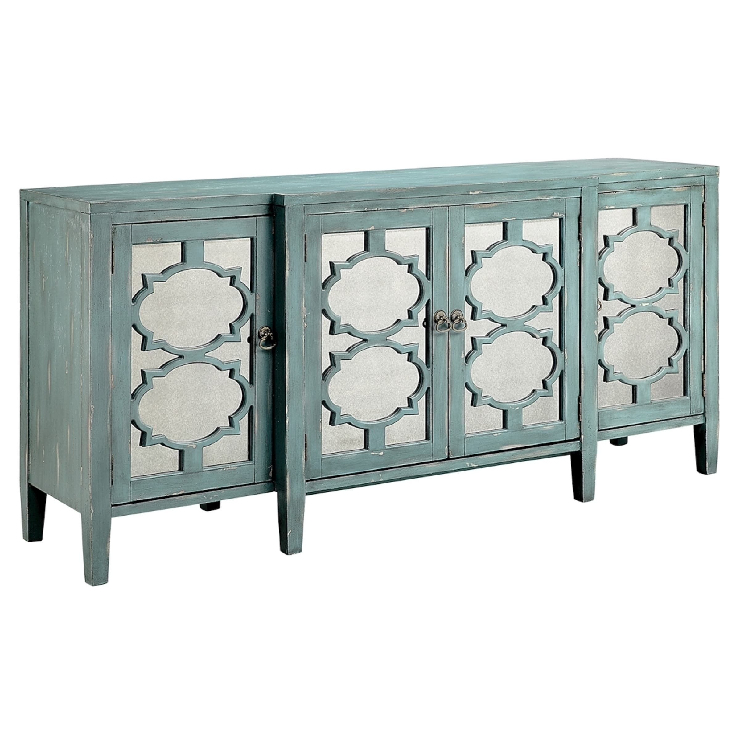 Carrie Ocean Blue Breakfront Credenza/ Buffet Table | Overstock Intended For Current Palazzo 87 Inch Sideboards (#3 of 20)