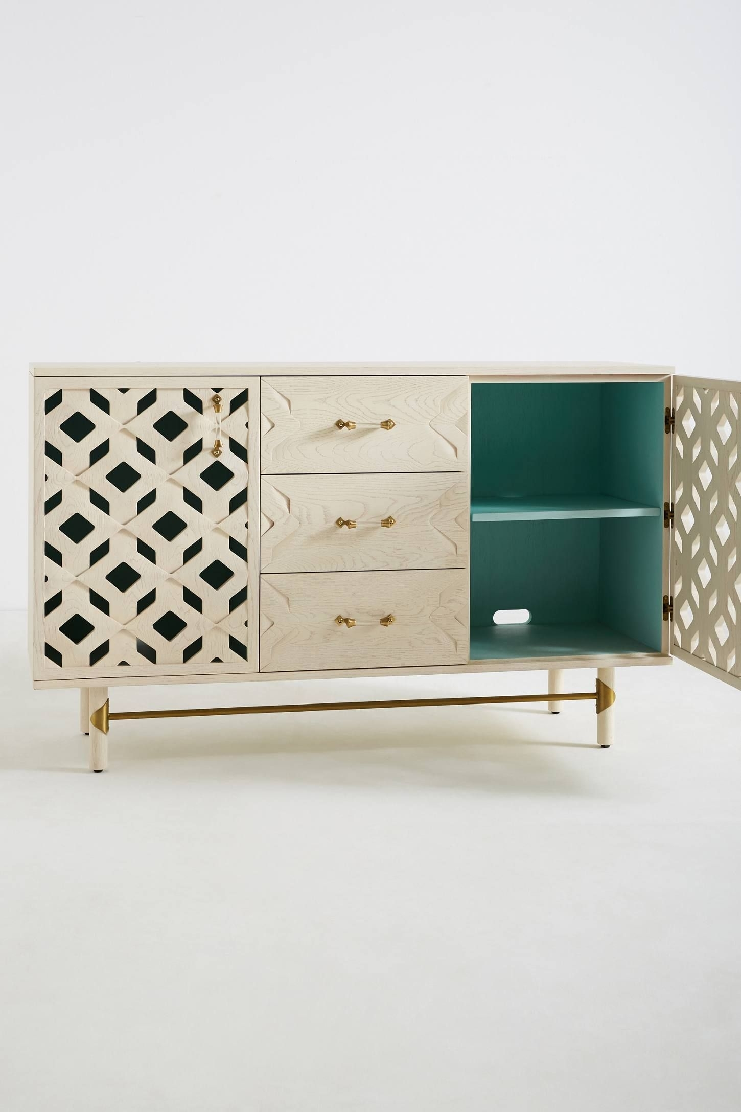 Carroway Storage Console | Tv Console | Pinterest | Consoles Throughout 2017 Geo Capiz Sideboards (#6 of 20)