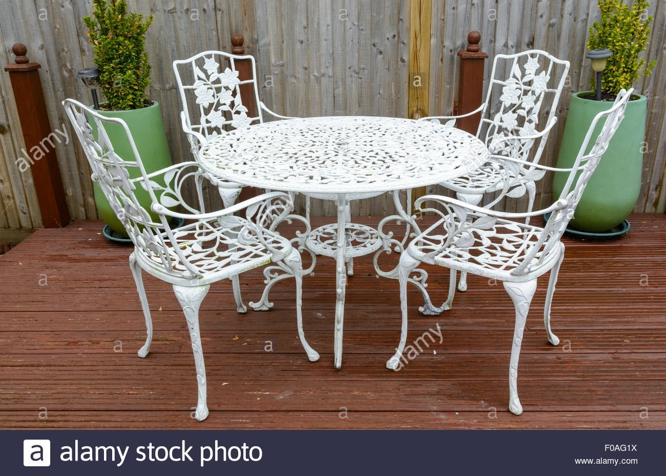 Cast Iron Chairs Stock Photos & Cast Iron Chairs Stock Images – Alamy Throughout Favorite Chapleau Side Chairs (#2 of 20)
