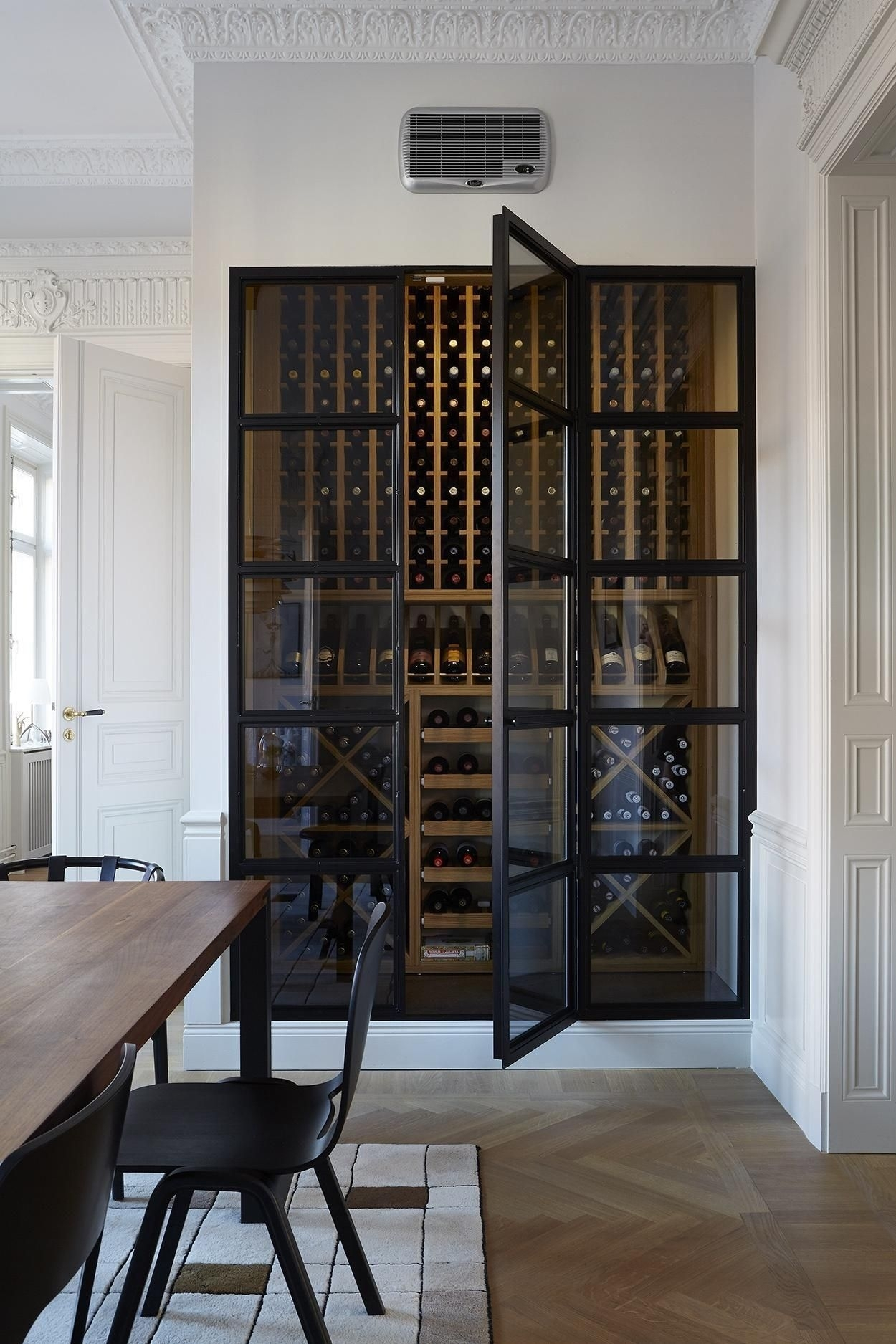 Celler Grey Side Chairs With Regard To Widely Used Winecellar. Scandinavian Luxury Apartment (View 4 of 20)