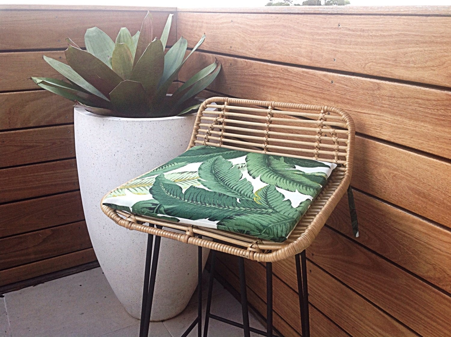 Chair Pads Palm Leaf Cushions Banana Leaf Outdoor Cushions (#8 of 20)