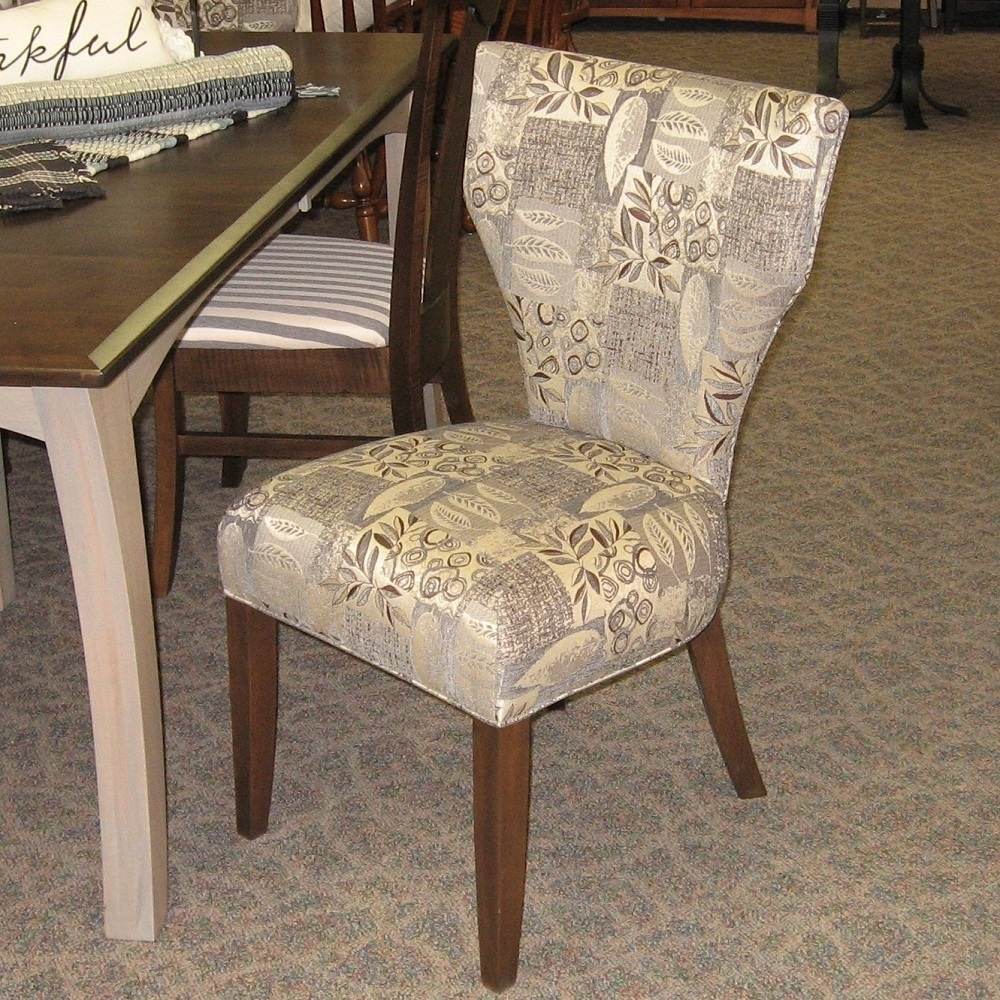 Chandler Fabric Side Chairs Intended For Famous Roosevelt Fabric Covered Side Chair, Shown In Brown Maple With A (#7 of 20)