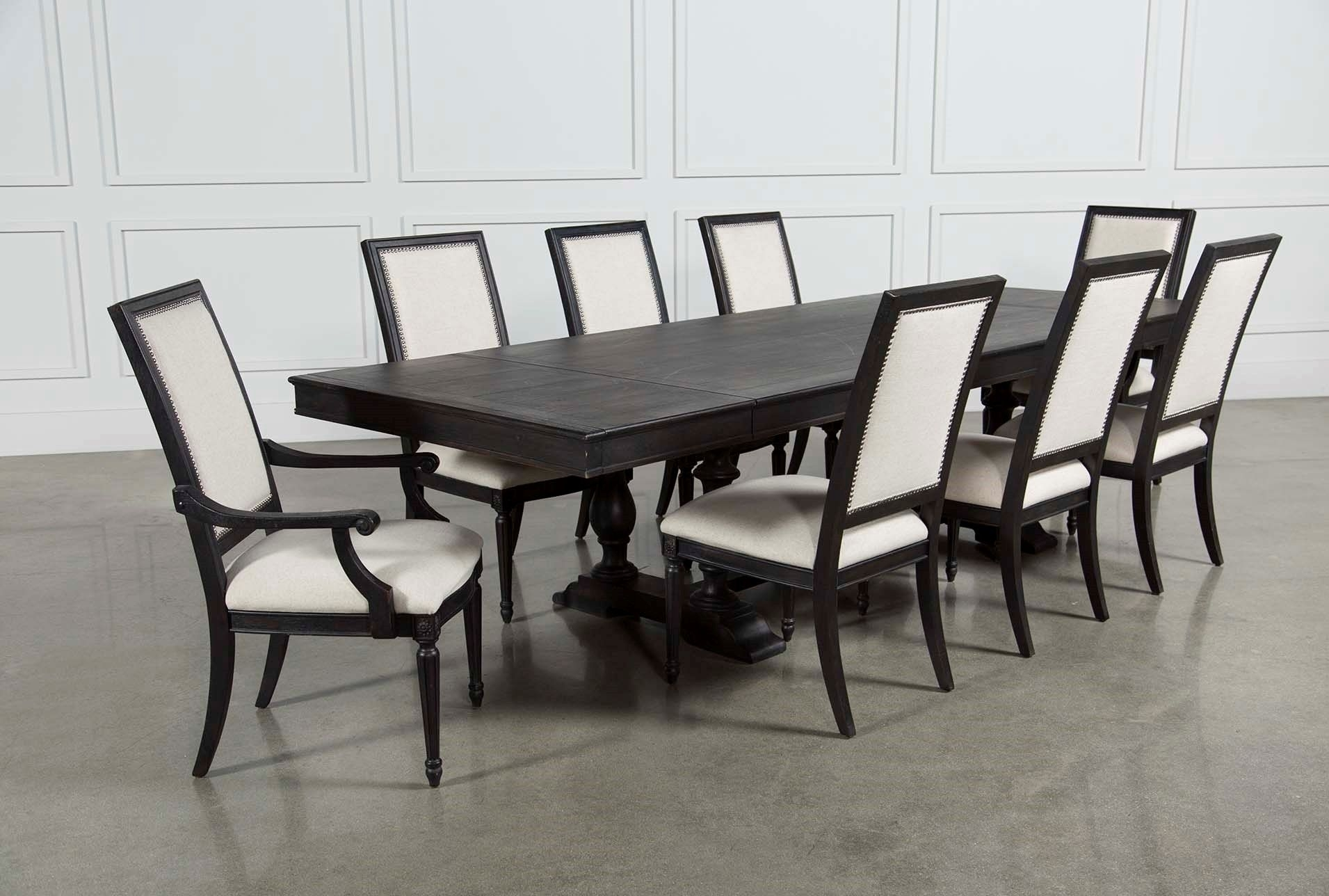 Chapleau 9 Piece Extension Dining Set, Brown (#2 of 20)