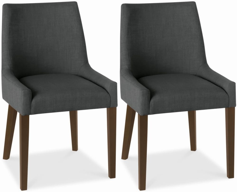 Charcoal Dining Chairs Throughout Trendy Buy Bentley Designs Ella Walnut Charcoal Scoop Back Dining Chair (View 1 of 20)