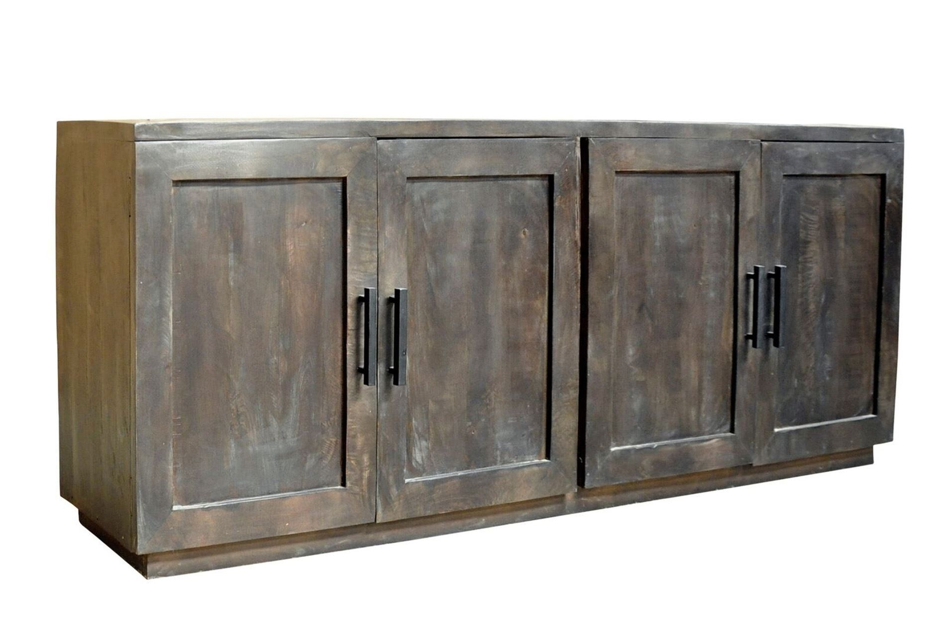 Charcoal Finish 4 Door Jumbo Sideboard | Doors Pertaining To Most Current Hartigan 2 Door Sideboards (View 1 of 20)