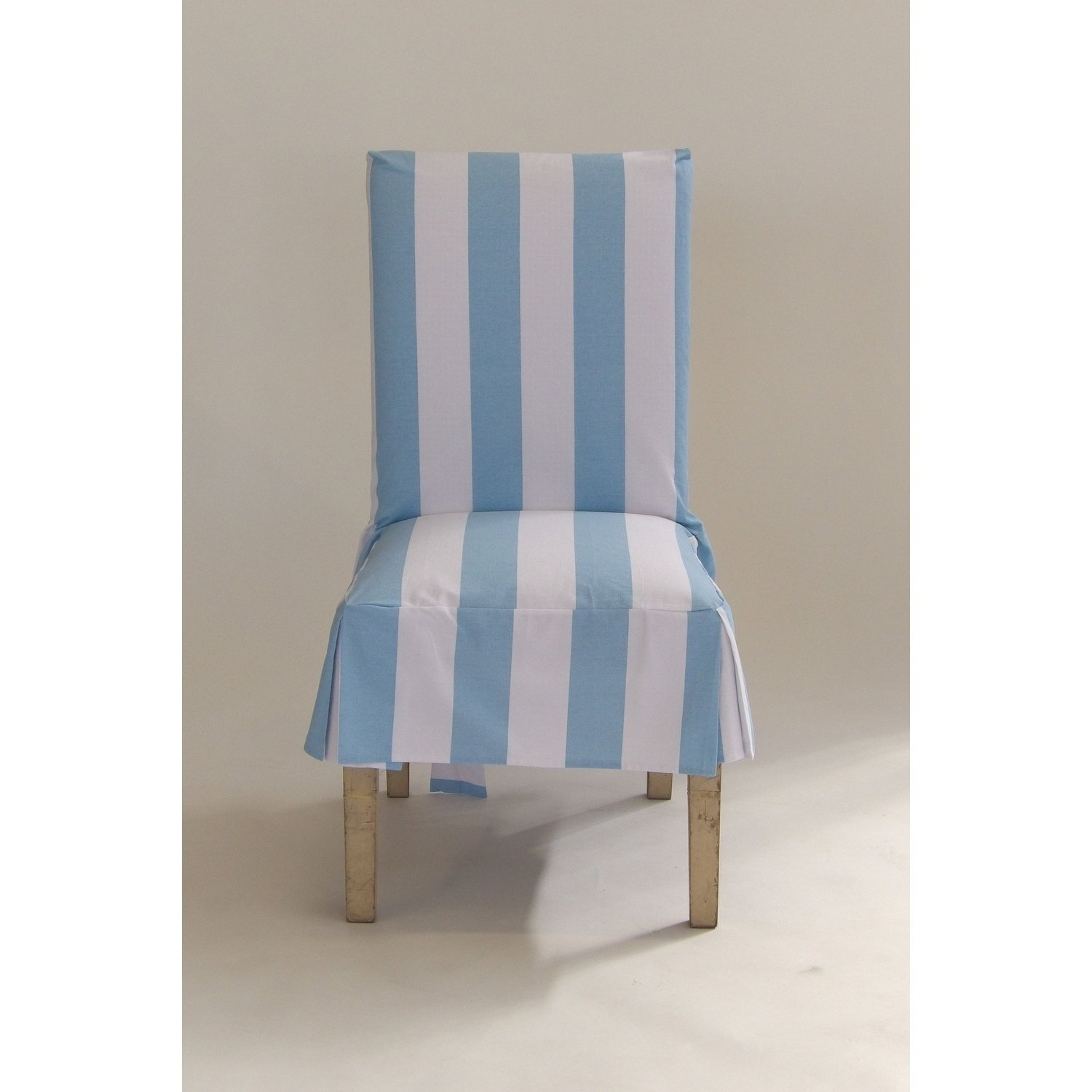 Classic Slipcovers Cabana Stripe Short Dining Chair Covers Set Of 2 Within Popular Blue Stripe Dining Chairs (#9 of 20)