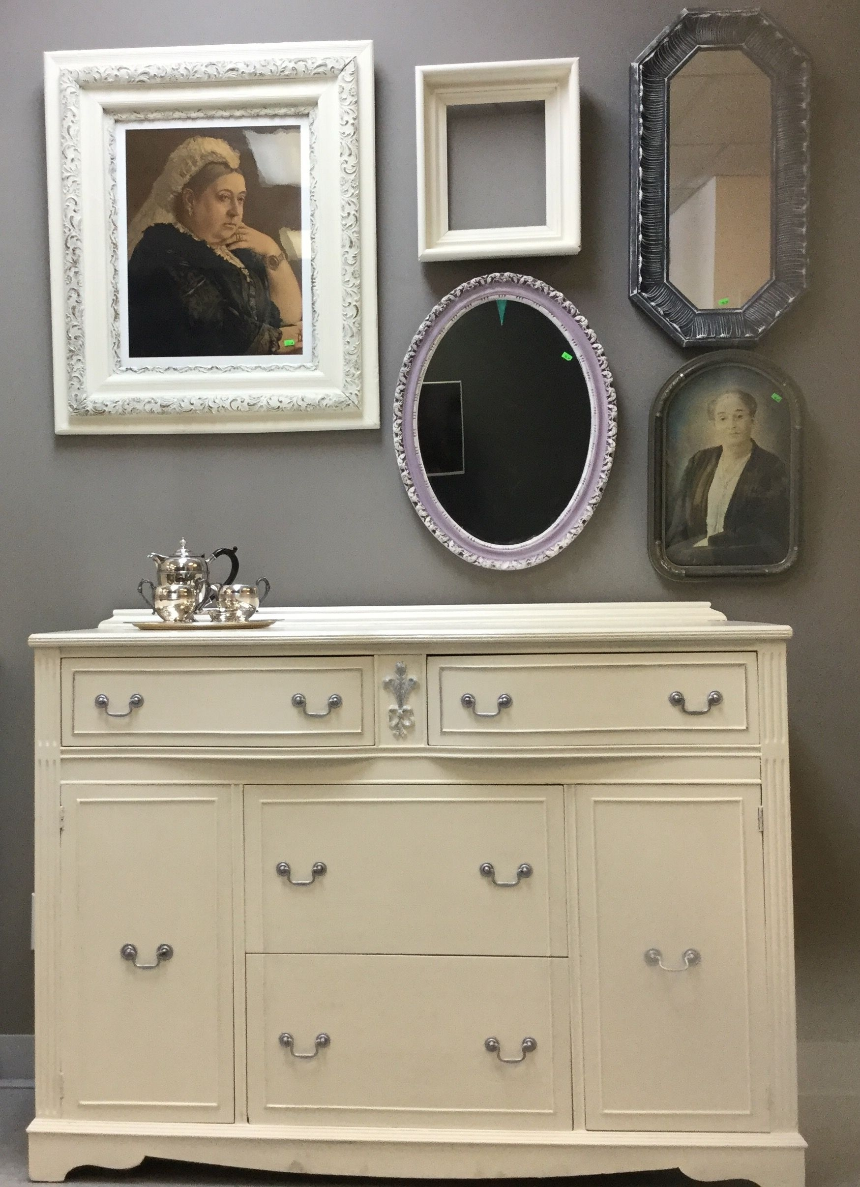 Classic Style Buffet Painted In Old White Chalkpaintannie Sloan Within 2018 Satin Black & Painted White Sideboards (View 7 of 20)